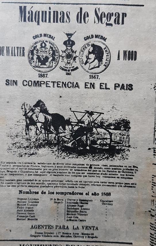 """Un anuncio comercial, de la antigua """"Casa Villafañe"""", publicado en el primer número del diario """"La Nación"""", de Buenos Aires, el martes 4 de enero de 1870."""