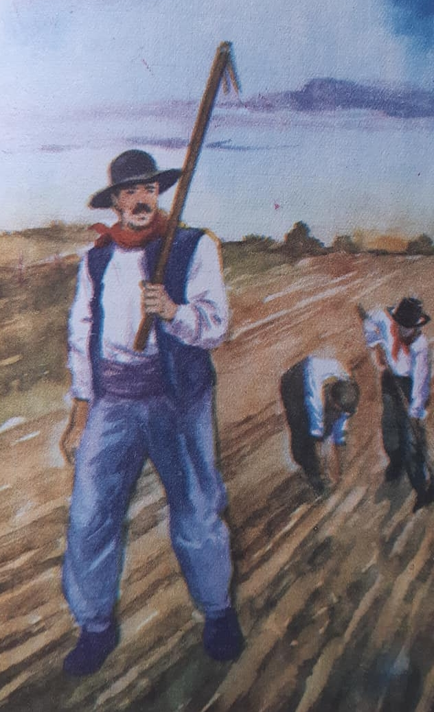 Un legendario personaje chivilcoyano: Don Pedro Lapouble, laborioso labriego y heroico soldado, en la campaña del desierto.
