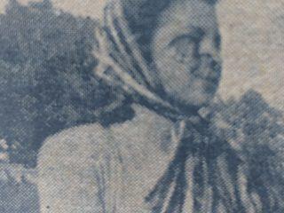 La juvenil actriz, Norma Toledo, protagonista, junto al actor Ángel Donamaria, de la película chivilcoyana «Tras un crimen… un misterio», estrenada en el cine-teatro «Metropol», el 22 de diciembre de 1948.