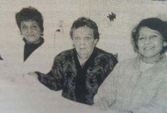 Rosario Ramona Porras ( En el centro), junto a Lucia Romero de Auteri y María del Carmen Odatto de Parente.