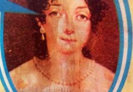 Retrato de Remedios Escalada de San Martín (1797-1823), esposa del Libertador, Padre de la Patria.