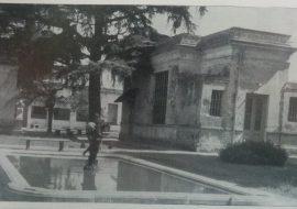 Patio y jardín del Hospital Municipal de Chivilcoy, tantas veces transitado por el Dr. Alejandro Báncora