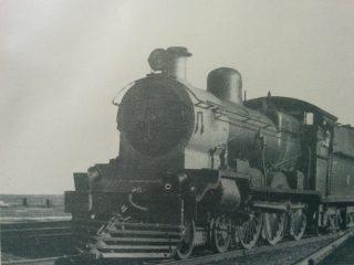Locomotora a vapor, de tiempos ya pasados.