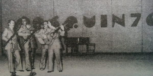 «Las Voces de Chivil-co», en el gran festival de Cosquín, en 1976.