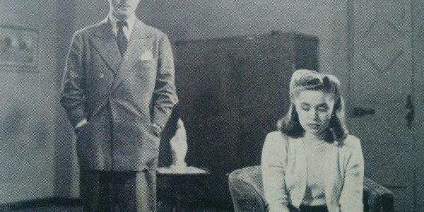 Una de las secuencias, de la película «La sombra del pasado», rodada en 1946, y estrenada el 25 de mayo de 1947.