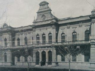 Fachada del Palacio Municipal, construido e inaugurado, bajo la gestión  de Don Vicente Domingo Loveira (Año 1900).