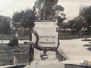 Monumento al Dr. Carlos Pellegrini, inaugurado en la Plaza 25 de mayo, el 11 de abril de 1909.