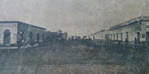 Avenida Sarmiento, en 1889.