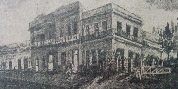 El barrio de la ya desaparecida, Estación Ferroviaria «Norte», a través de un óleo, del destacado artista plástico chivilcoyano, José Antonio Speranza.