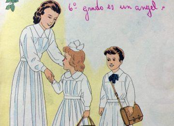 Ilustraciones de distintos libros de lectura, de la escuela primaria, correspondientes a las décadas de 1950 y 1960.