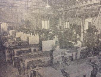 La Escuela Técnica, en una estampa fotográfica de 1935, cuando cumplió sus 25 años, «Bodas de Plata».
