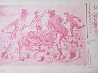 Ilustración caricaturesca, sobre la ceremonia fundacional de Chivilcoy, aquel memorable domingo 22 de octubre de 1854, realizada, por el talentoso y eximio dibujante, Agustín Domingo Guasco (1917-1975), en el año 1946, y publicada en la revista «El Informativo Familiar», en el mes de octubre de 1947.