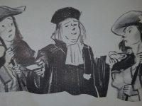 Ilustraciones, del libro de Fábulas, del notable escritor francés, Jean de La Fontaine (1621-1695); una obra literaria, que a través de una serie de sabias enseñanzas, señalaba el recto camino, de la conducta moral y del sentido ético, de cada ser humano.