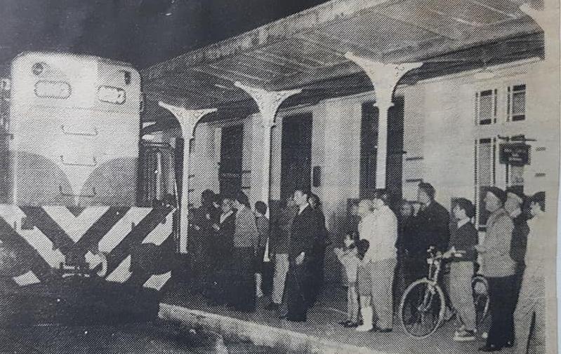 """El último tren, de la Estación Ferroviaria """"Norte"""" (1968)."""