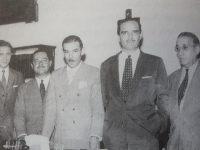 El Dr. Falabella, junto a sus principales colaboradores, cuando asumió, como comisionado municipal de Chivilcoy. Estuvo al frente de la comuna, de nuestra ciudad, desde el mes de marzo, hasta junio de 1957.