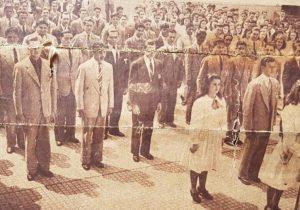 El Colegio Nacional, en una antigua fotografía, aparecida en las columnas, del matutino porteño de «La Nación», el 2 de octubre de 1944, para la celebración, del nonagésimo aniversario, de la fundación de nuestra ciudad de Chivilcoy.