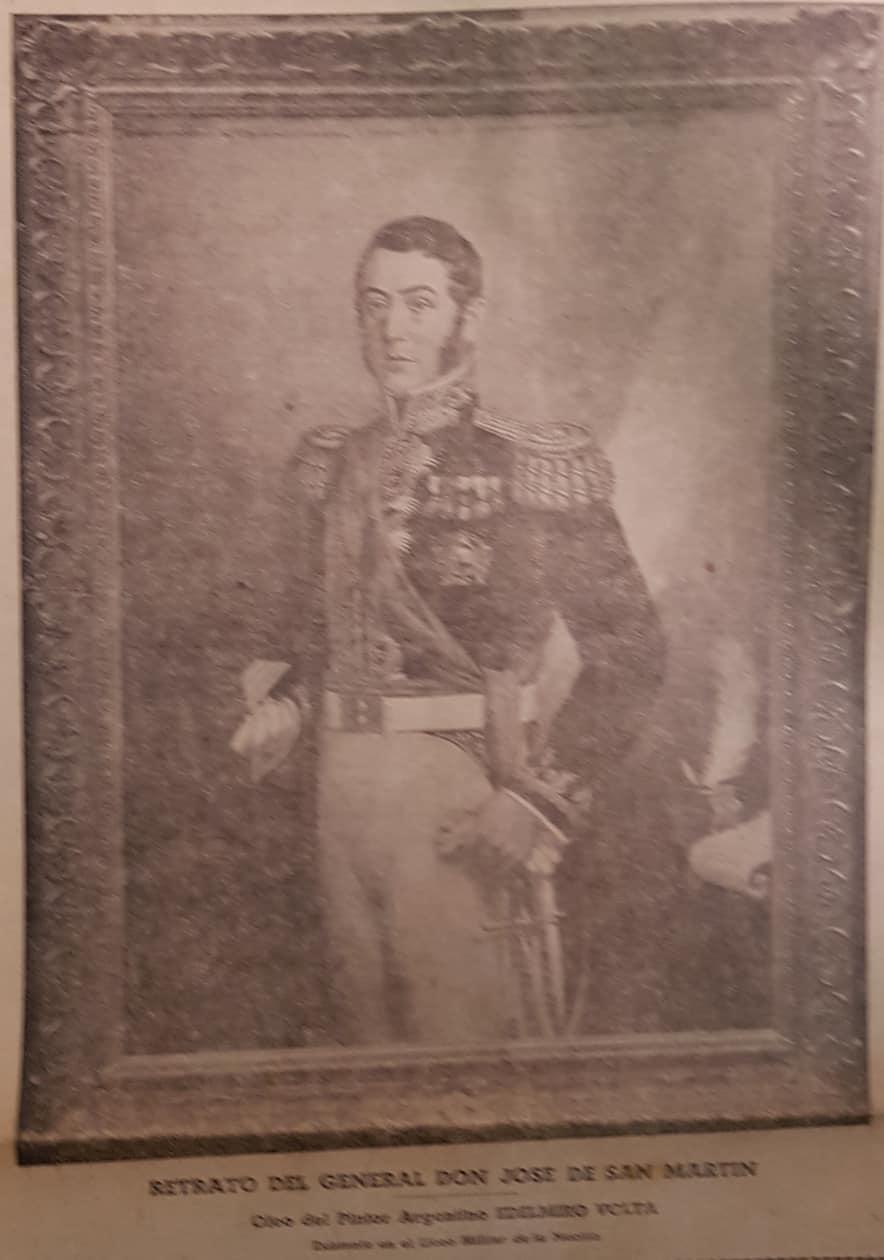 El homenaje al general San Martín, en Chivilcoy, el 17 de agosto de 1943.